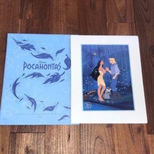 Vintage Disney Pocahontas Lithograph 1995